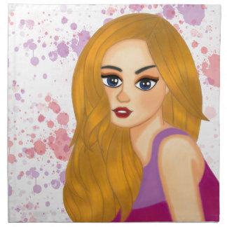Ginger hair napkin