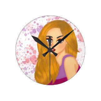 Ginger hair round clock