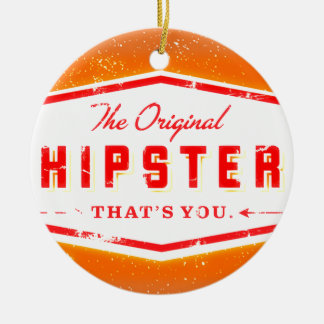 GINGER HIPSTER STYLE ROUND CERAMIC ORNAMENT