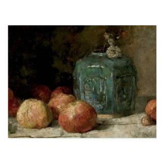 Ginger Jar & Apples, Vincent van Gogh Fine Art Postcard