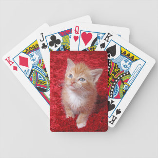 Ginger Kitten Bicycle Playing Cards
