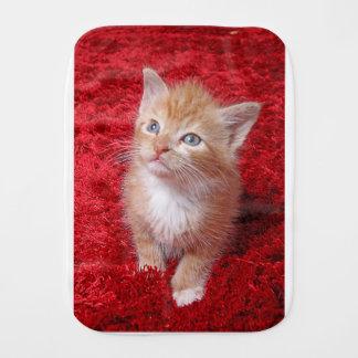 Ginger Kitten Burp Cloth