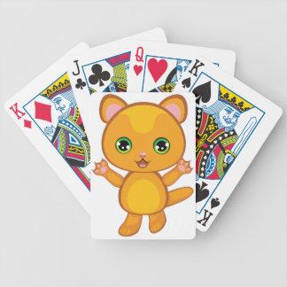Ginger Kitten Cartoon2 Bicycle Playing Cards