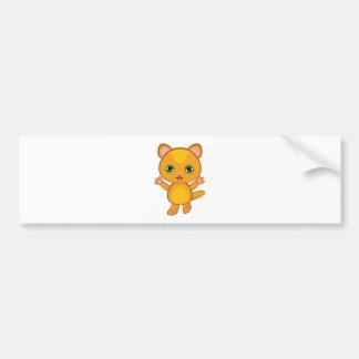 Ginger Kitten Cartoon2 Bumper Sticker