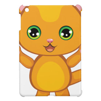 Ginger Kitten Cartoon2 Cover For The iPad Mini