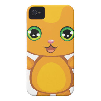 Ginger Kitten Cartoon2 iPhone 4 Case