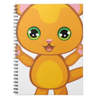 Ginger Kitten Cartoon2 Spiral Notebook