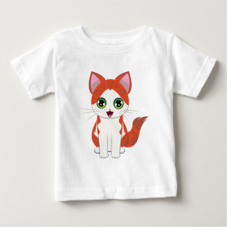 Ginger Kitten Cartoon Baby T-Shirt