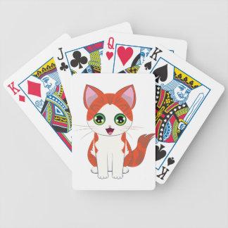 Ginger Kitten Cartoon Bicycle Playing Cards