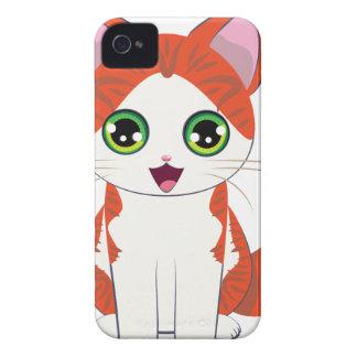 Ginger Kitten Cartoon Case-Mate iPhone 4 Cases