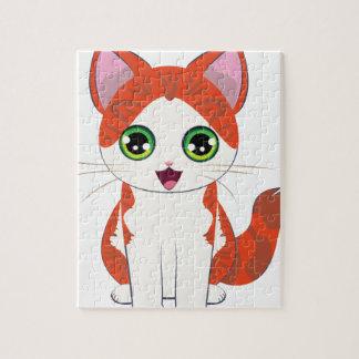 Ginger Kitten Cartoon Jigsaw Puzzle