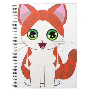 Ginger Kitten Cartoon Notebooks