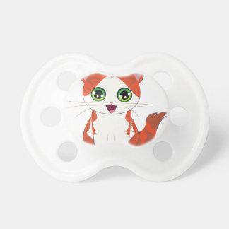 Ginger Kitten Cartoon Pacifier