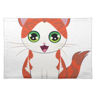 Ginger Kitten Cartoon Placemat