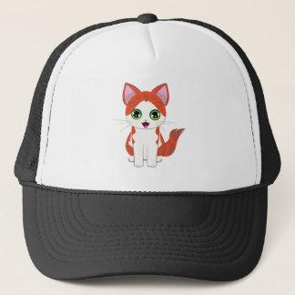 Ginger Kitten Cartoon Trucker Hat