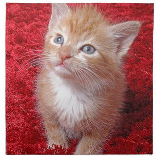 Ginger Kitten Napkin