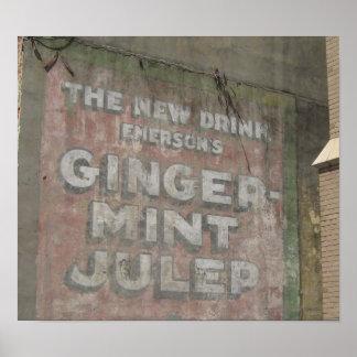 Ginger-Mint Julep Sign