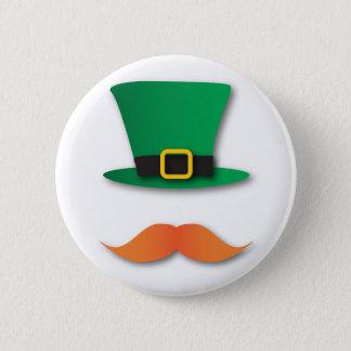 Ginger Mustache Leprechaun Cute St. Patrick's Day 2 Inch Round Button