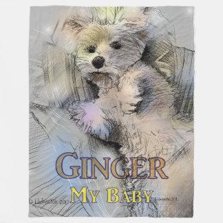 Ginger My Baby Fleece Blanket