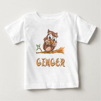 Ginger Owl Baby T-Shirt