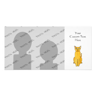 Ginger Red Shorthair Cat. Customized Photo Card