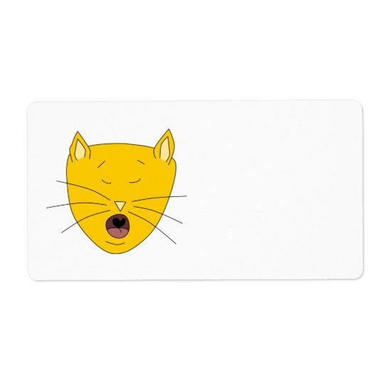 Ginger singing cat.