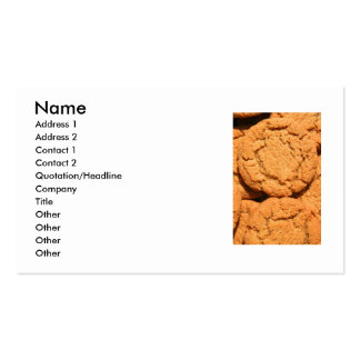 Ginger Snap Cookies Business Card