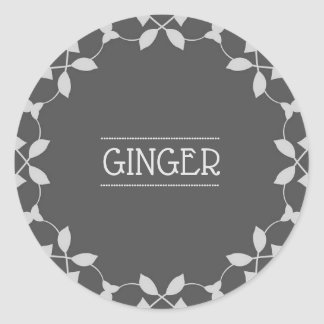 Ginger Spice Jar Sticker Labels