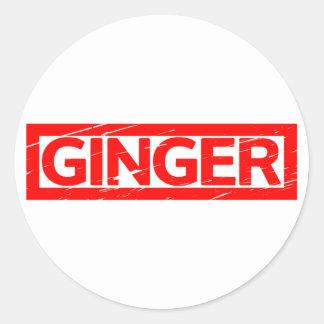 Ginger Stamp Classic Round Sticker