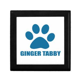 GINGER TABBY CAT DESIGNS GIFT BOX