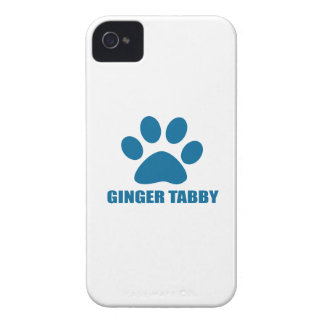 GINGER TABBY CAT DESIGNS iPhone 4 COVER