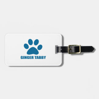 GINGER TABBY CAT DESIGNS LUGGAGE TAG