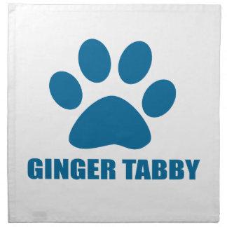 GINGER TABBY CAT DESIGNS NAPKIN