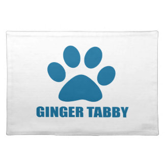 GINGER TABBY CAT DESIGNS PLACEMAT