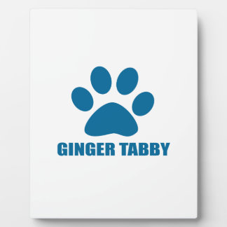 GINGER TABBY CAT DESIGNS PLAQUE