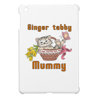 Ginger tabby Cat Mom Case For The iPad Mini
