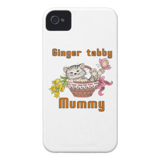 Ginger tabby Cat Mom Case-Mate iPhone 4 Case