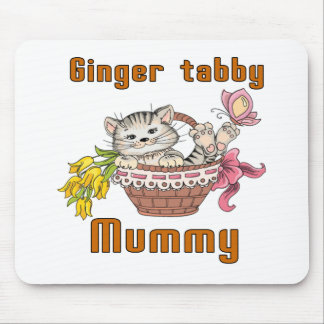 Ginger tabby Cat Mom Mouse Pad