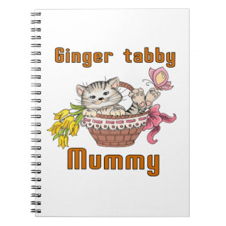 Ginger tabby Cat Mom Spiral Note Book