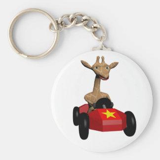 Ginger the Giraffe racing Keychain
