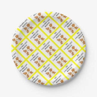 gingerbread 7 inch paper plate