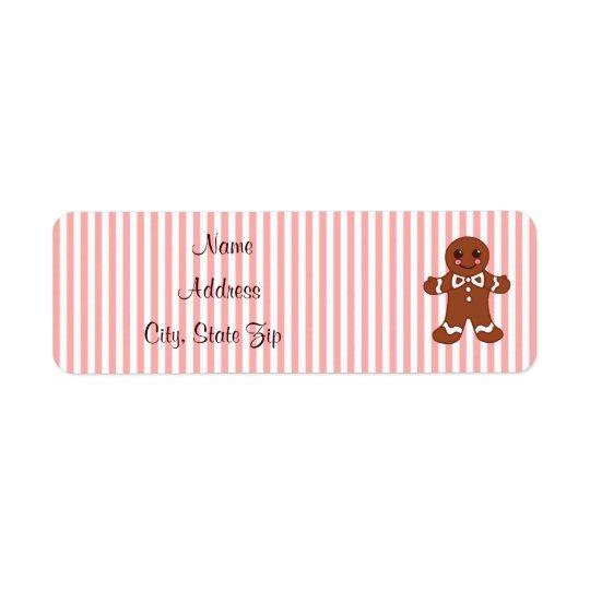Gingerbread Address Labels