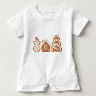 gingerbread baby romper
