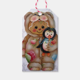 Gingerbread Bear & Penguin Gift Tag