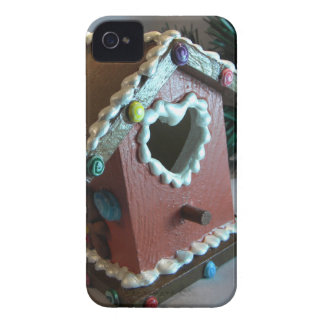 Gingerbread Birdhouse I iPhone 4 Covers