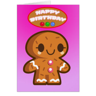 Gingerbread Birthday Card