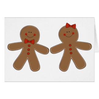 Gingerbread Boy and Girl Card