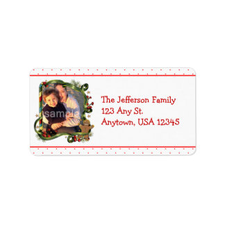 Gingerbread Boy Photo Address Labels