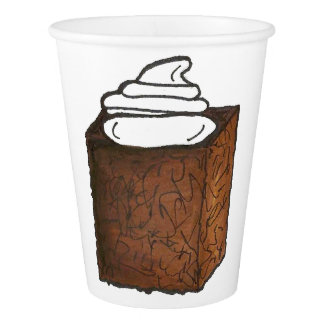 Gingerbread Cake Slice Christmas Baking Holiday Paper Cup
