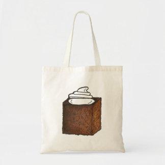 Gingerbread Cake Slice Whipped Cream Christmas Bag